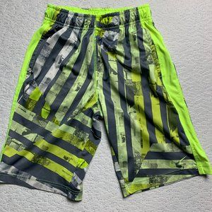 Nike Dri Fit Grey Yellow Basketball Youth Shorts